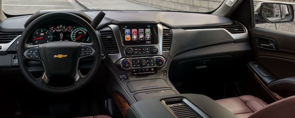 2020 Chevrolet Tahoe Full-Size SUV Front Dashboard Interior View.