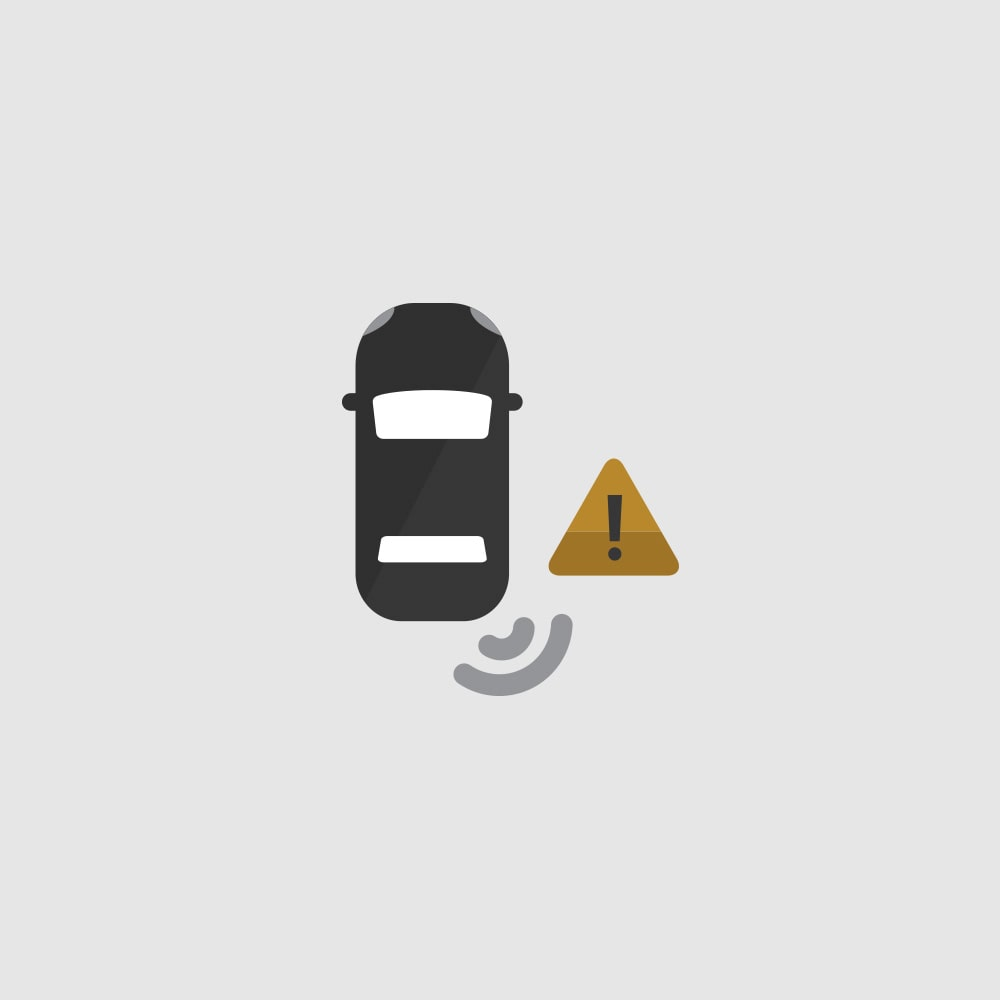Side Blind Zone Alert Icon.