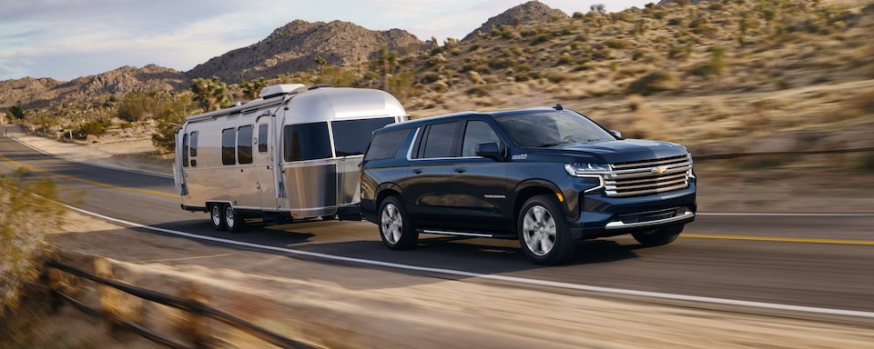 2021 Suburban towing capability.