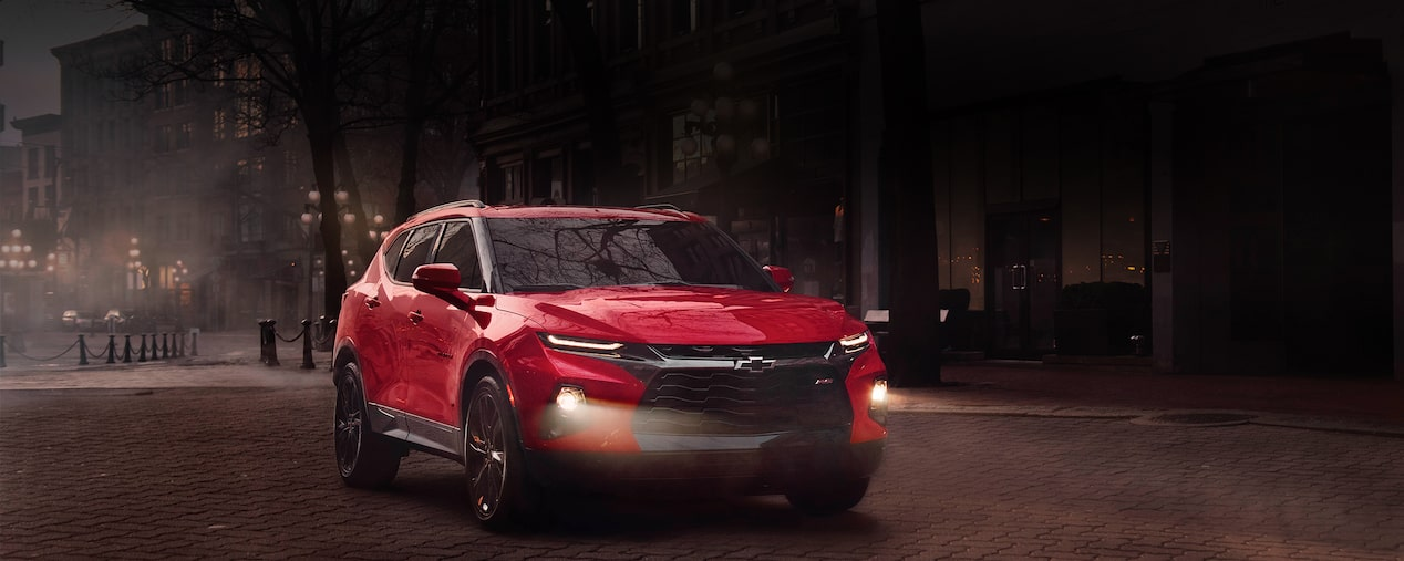 Side exterior view of the all-new 2019 Chevrolet Blazer.