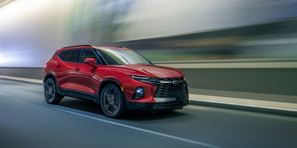 Side exterior view of the all-new 2020 Chevrolet Blazer