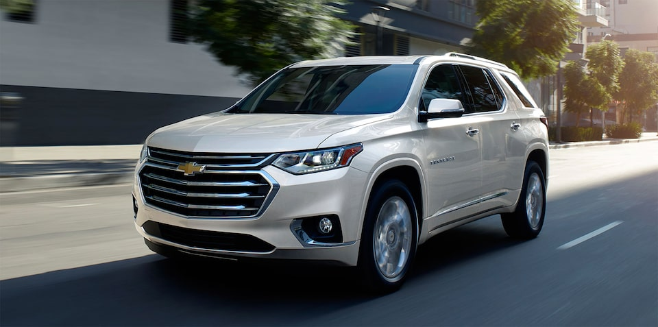 Exterior of the 2020 Chevrolet Traverse.