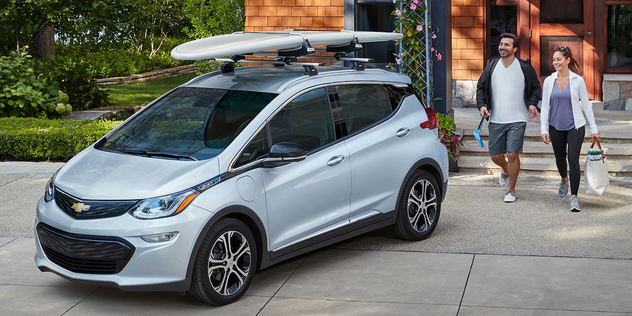 The Chevrolet Bolt EV electric car.