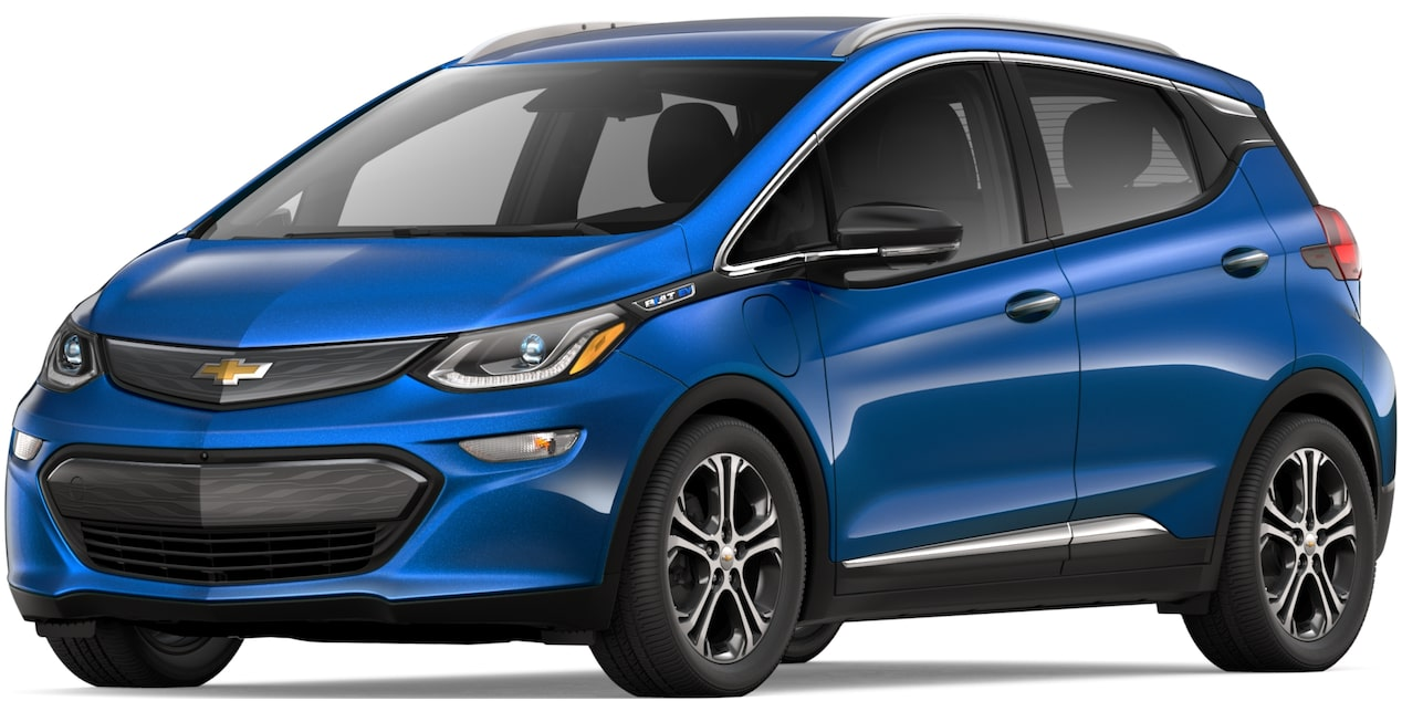 2019 BOLT EV IN KINETIC BLUE METALLIC