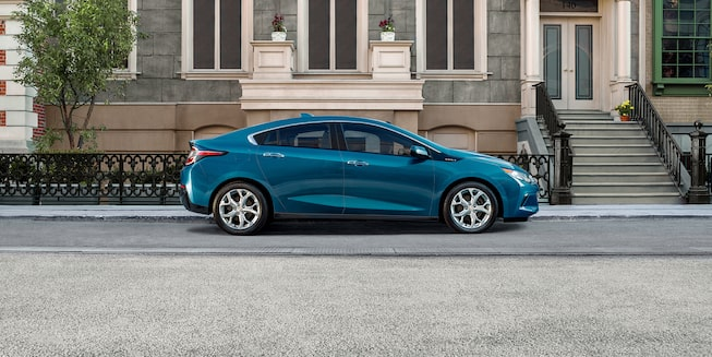 Side exterior of the 2019 Chevrolet Volt.