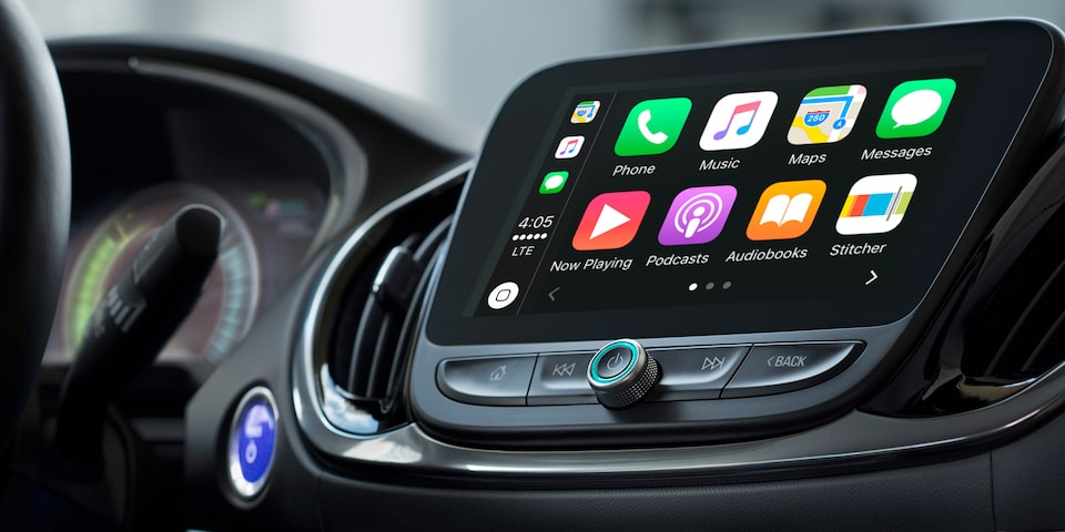 The 2019 Chevrolet Volt is available with Apple CarPlay.
