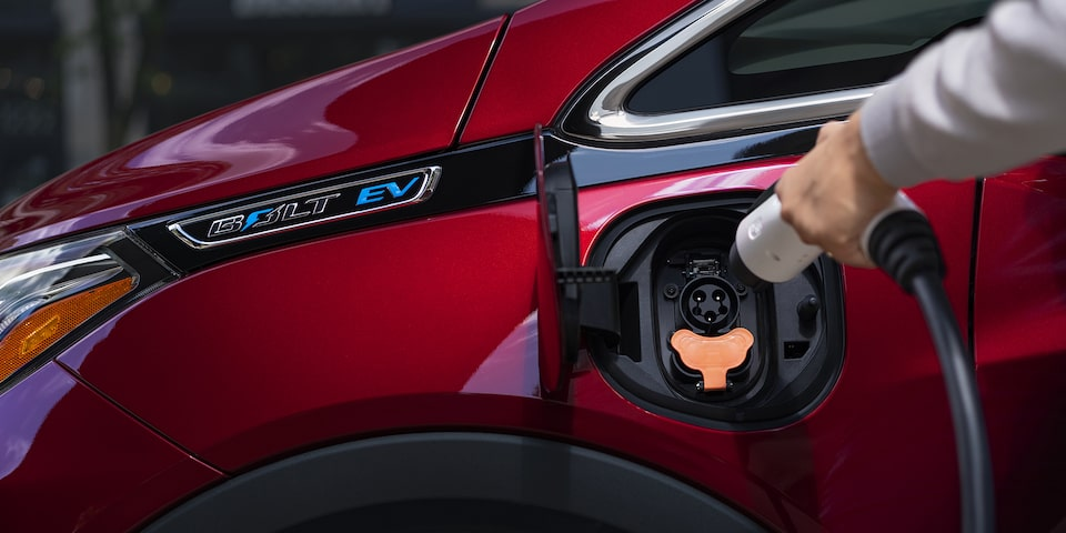 2020 Bolt EV Electric Car Charging Port.