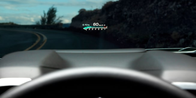 Head-up display of the 2019 Chevrolet Camaro ZL1.
