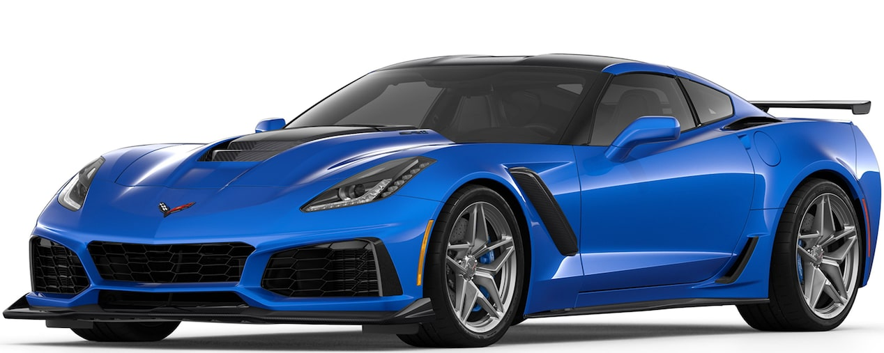 2019 CORVETTE ZR1 IN ELKHART BLUE METALLIC