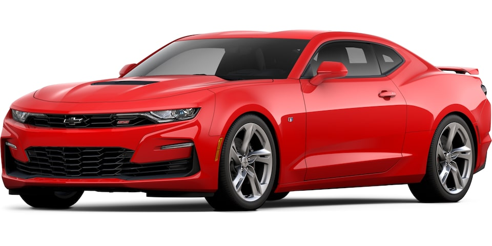 2021 Camaro in Red Hot.