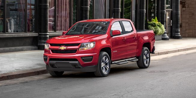 Exterior of the 2019 Chevrolet Colorado.