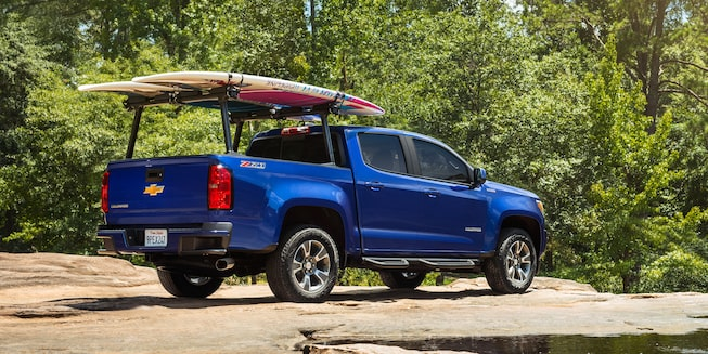 2019 Colorado exterior: rear cargo rack.