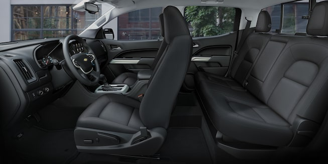 The Colorado Crew Cab seating offers plenty of leg room.