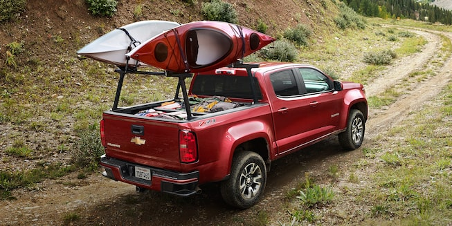 2019 Chevrolet Colorado's available utility racks.