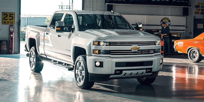 2019 Silverado HD Heavy Duty Truck Exterior Photo: front-summit white.