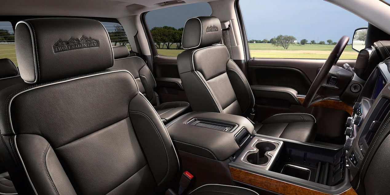 Premium seating in the Chevrolet Silverado HD.