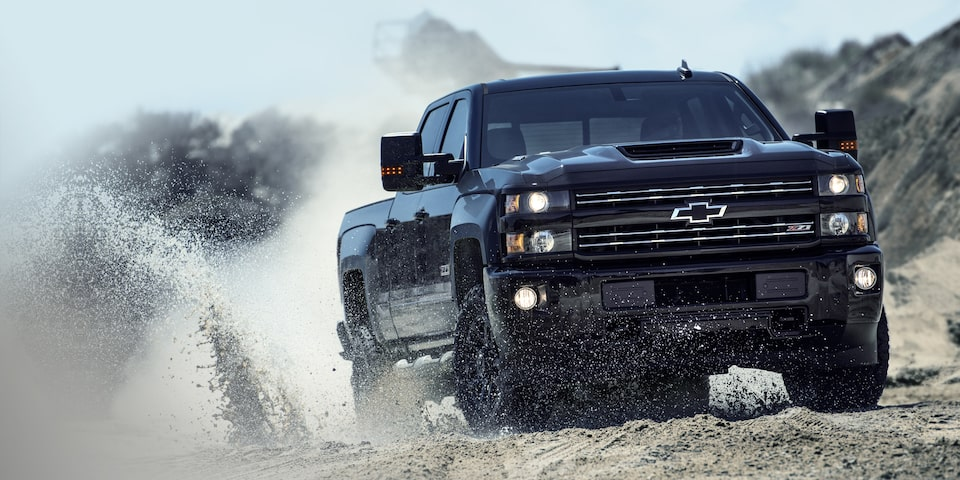 The 2019 Silverado HD with a number of available braking features.