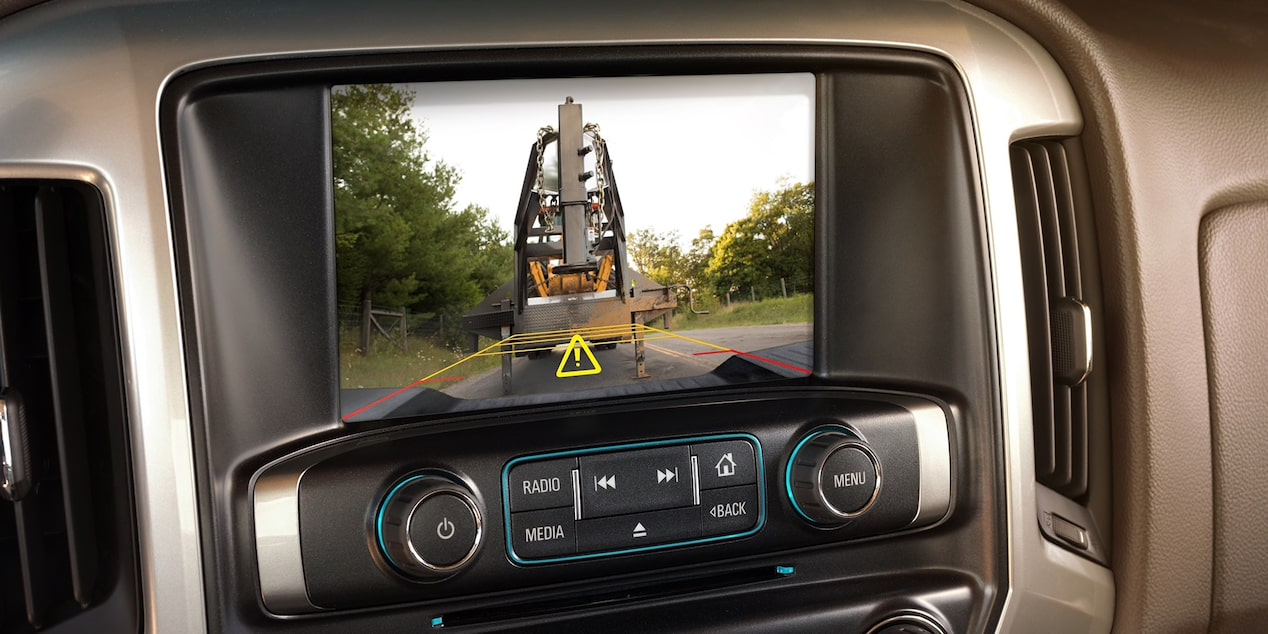 Available rear vision camera in the Chevrolet Silverado HD.