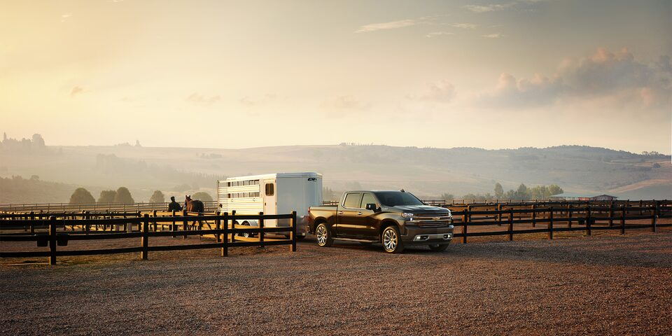 The Chevrolet Silverado with trailering tech.