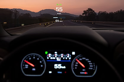 2019 Chevrolet Silverado's head-up display.