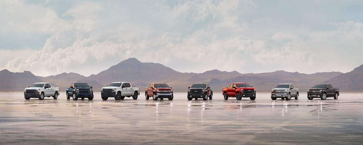 The 2019 all-new Silverado lineup.