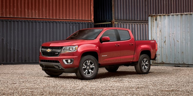 Chevrolet Colorado Mid-Size Truck Driver Side Angle View.