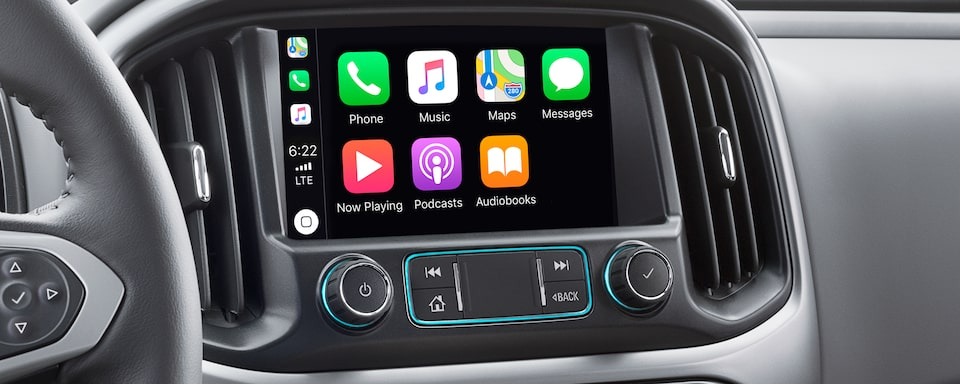 The 2020 Colorado Features Apple CarPlay 4G LTE with Wi-Fi, Streaming Internet Radio And Touch Screen Navigation.