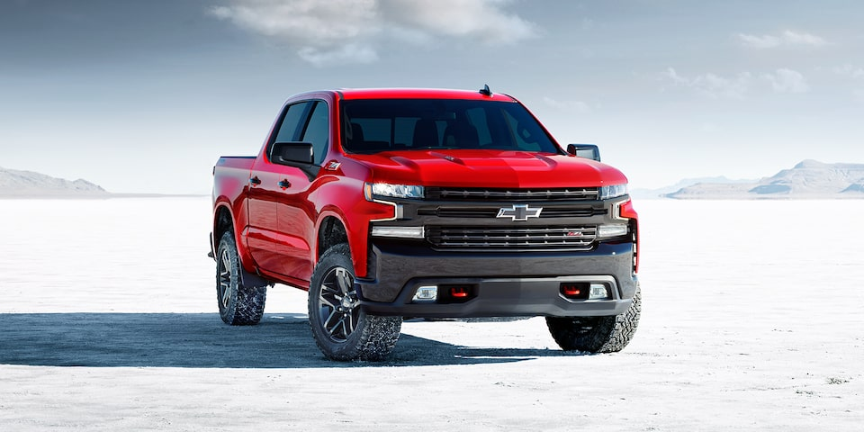 2020 Chevrolet Silverado 1500 Pickup Truck Front View.