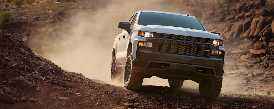 2020 Silverado 1500 Pickup Truck Front Off Road View.