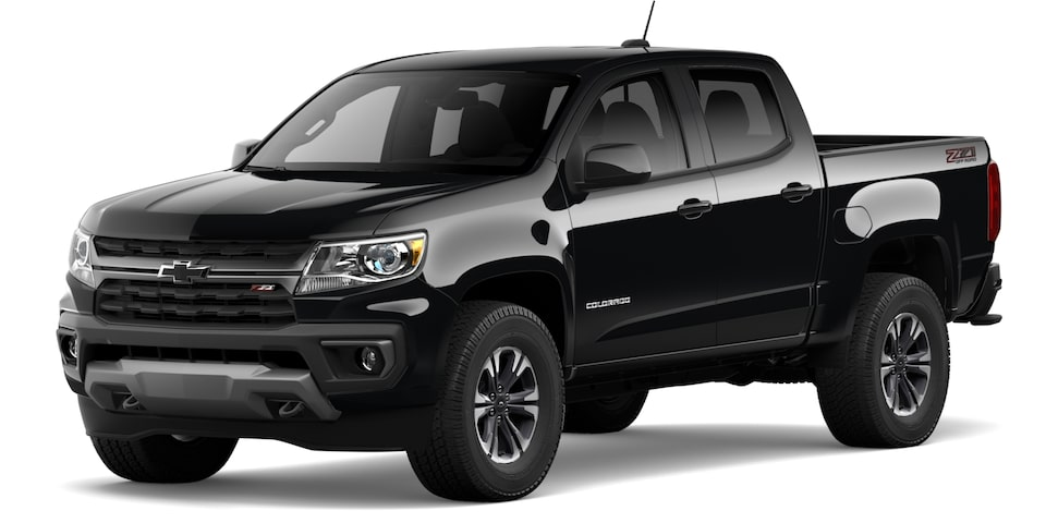 Chevrolet Colorado 2021 en noir.