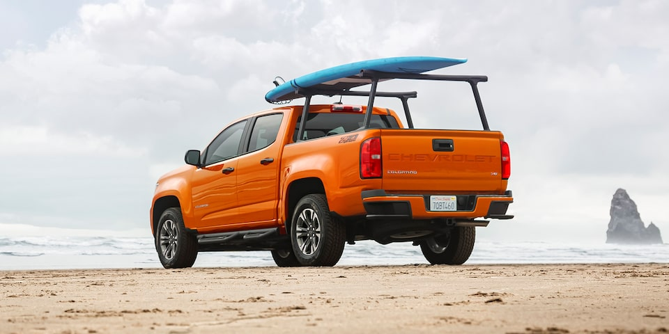 2021 Chevrolet Colorado Mid-Size Truck With Truck Bed Accessory.
