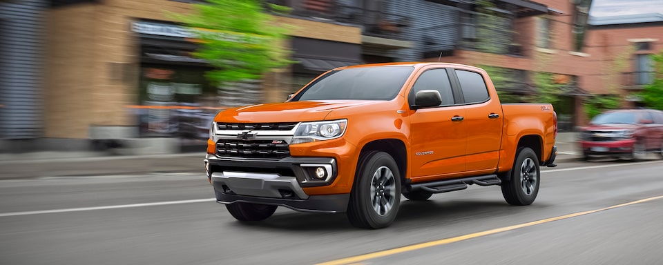 2021 Chevrolet Colorado Mid-Size Truck Side View.