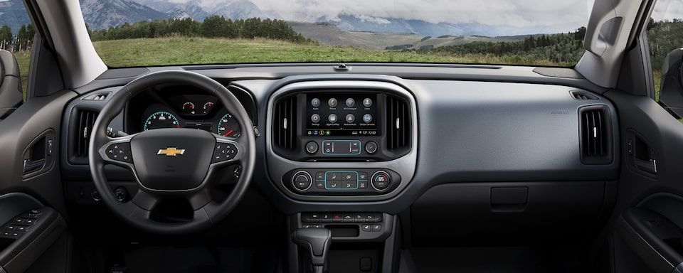 2021 Chevrolet Colorado Interior View: Dashboard & Seats.