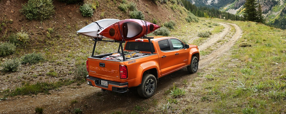2021 Chevrolet Colorado Hauling Kayaks.