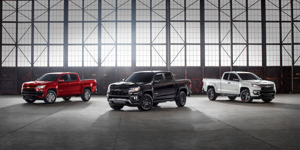 2021 Chevrolet Colorado Special Editions Lineup Wide View.