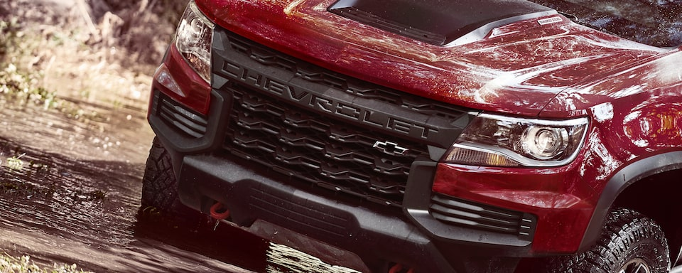 2021 Colorado ZR2 Truck Grille Close-Up.