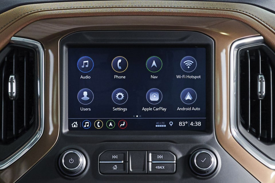 2021 Silverado 1500 Pickup Truck Color Touch Screen Radio.