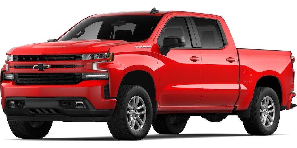 2021 SILVERADO IN RED HOT.