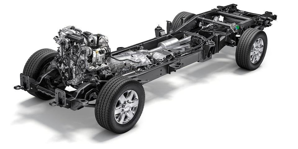2021 Chevy Silverado HD Truck: chassis view.