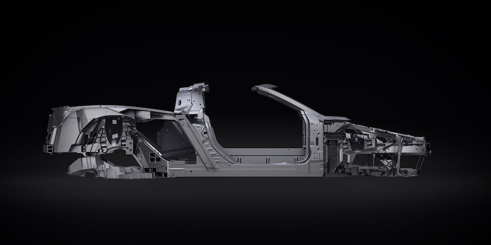 2020 Chevrolet Corvette Mid-Engine Sports Car Body Structure Frame