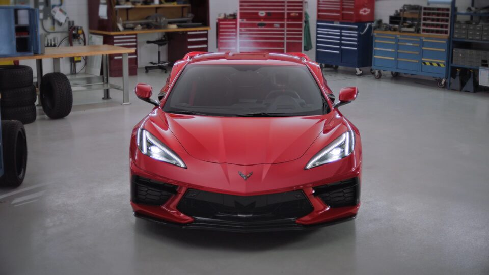 Front View Of The 2020 Corvette Stingray.