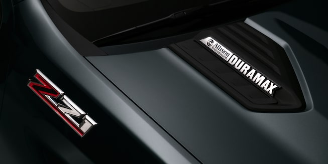 Duramax and Z71 emblems on the 2020 Chevrolet Silverado HD.