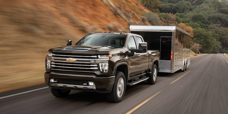 The 2020 Chevrolet Silverado HD with increased towing capabilities.