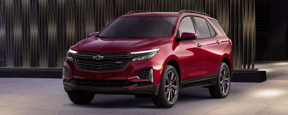 The 2021 Chevrolet Equinox RS Small SUV Front View.