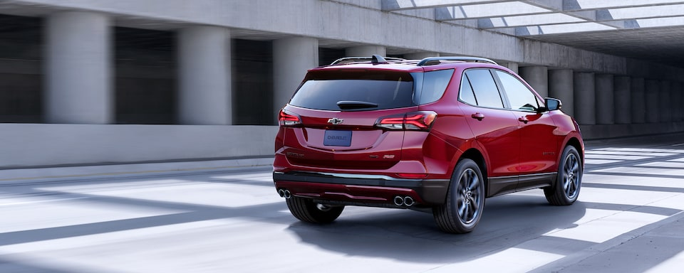 The 2021  Equinox RS Small SUV Rear View.