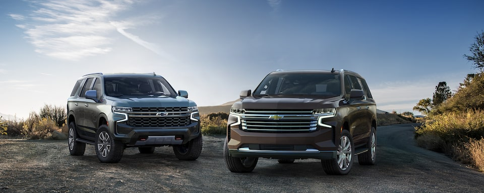 The all-new 2021 Chevrolet Tahoe and Suburban SUVs.