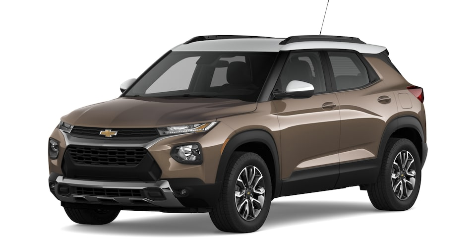 2021 Trailblazer in Zeus Bronze Metallic and Summit White.