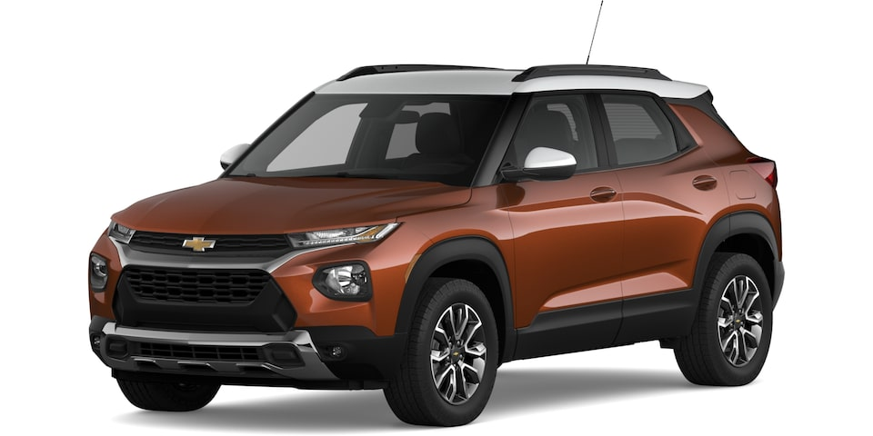 2021 Trailblazer in Dark Copper Metallic and Summit White.