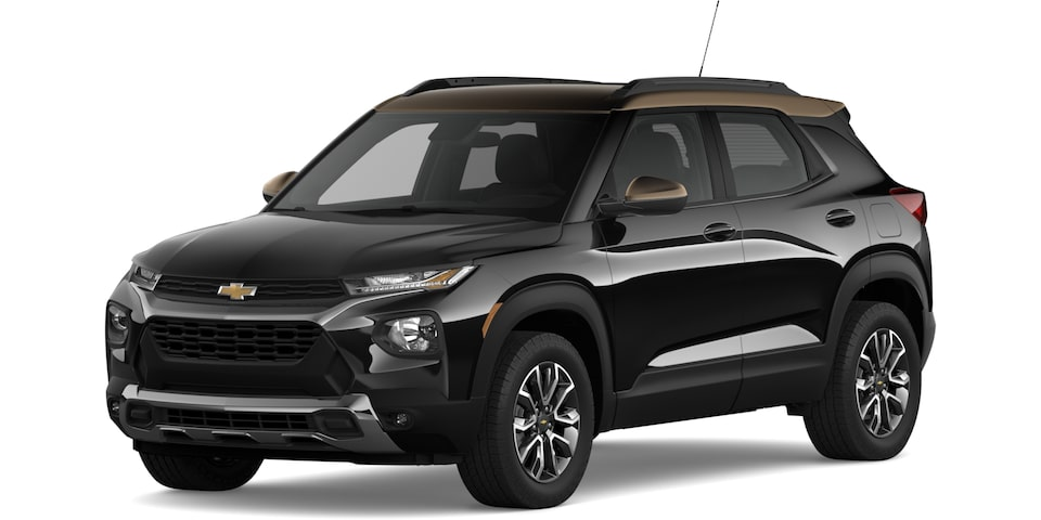 2021 Trailblazer in Mosaic Black Metallic and Zeus Bronze Metallic.