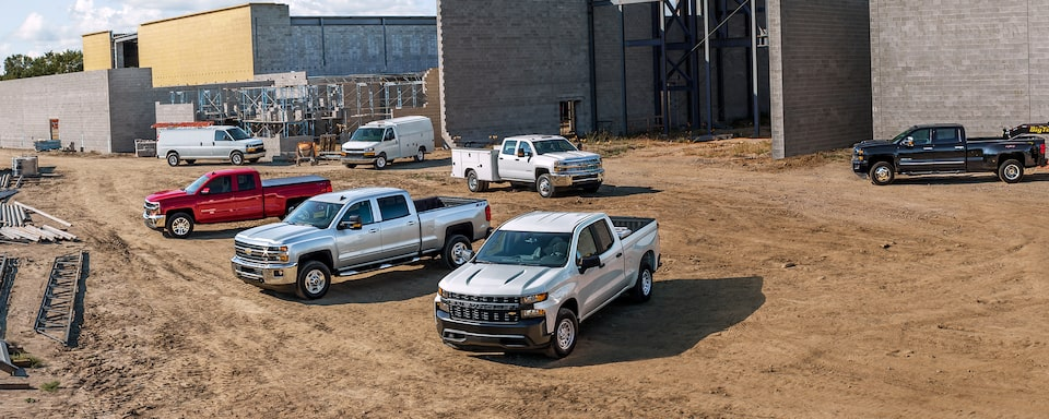 Chevrolet's lineup of commercial vehicles.